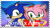 Sonic x Amy Stamp by SnowTheWinterKitsune