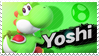 Yoshi - Splash Card Stamp by SnowTheWinterKitsune