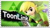 ToonLink - Splash Card Stamp by SnowTheWinterKitsune