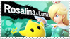 Rosalina and Luma - Splash Card Stamp by SnowTheWinterKitsune