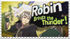 Robin - Splash Card Stamp by SnowTheWinterKitsune