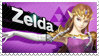 Zelda - Splash Card Stamp by SnowTheWinterKitsune