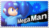 Mega Man - Splash Card Stamp by SnowTheWinterKitsune