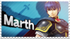 Marth - Splash Card Stamp by SnowTheWinterKitsune