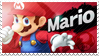 Mario - Splash Card Stamp by SnowTheWinterKitsune
