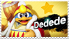 King Dedede - Splash Card Stamp by SnowTheWinterKitsune