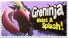 Greninja - Splash Card Stamp by SnowTheWinterKitsune