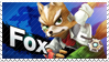Fox - Splash Card Stamp by SnowTheWinterKitsune