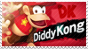 Diddy Kong - Splash Card Stamp by SnowTheWinterKitsune