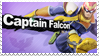 Captain Falcon - Splash Card Stamp by SnowTheWinterKitsune