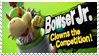 Bowser Jr - Splash Card Stamp by SnowTheWinterKitsune