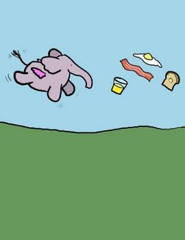 Flying Elephant's Breakfast