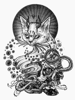 Satan cat by yulia-hochulia