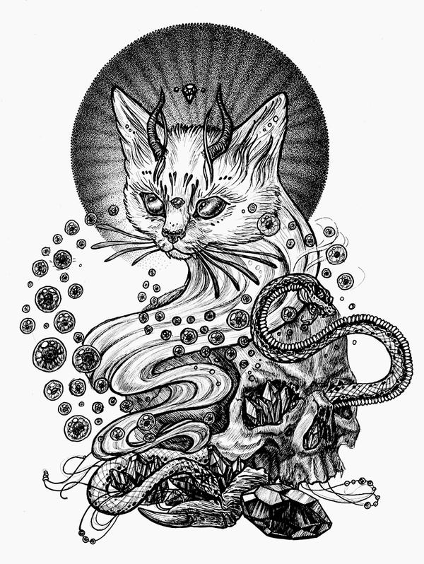 Satan cat by Esquirol