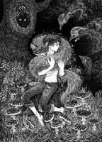 magic fox by yulia-hochulia