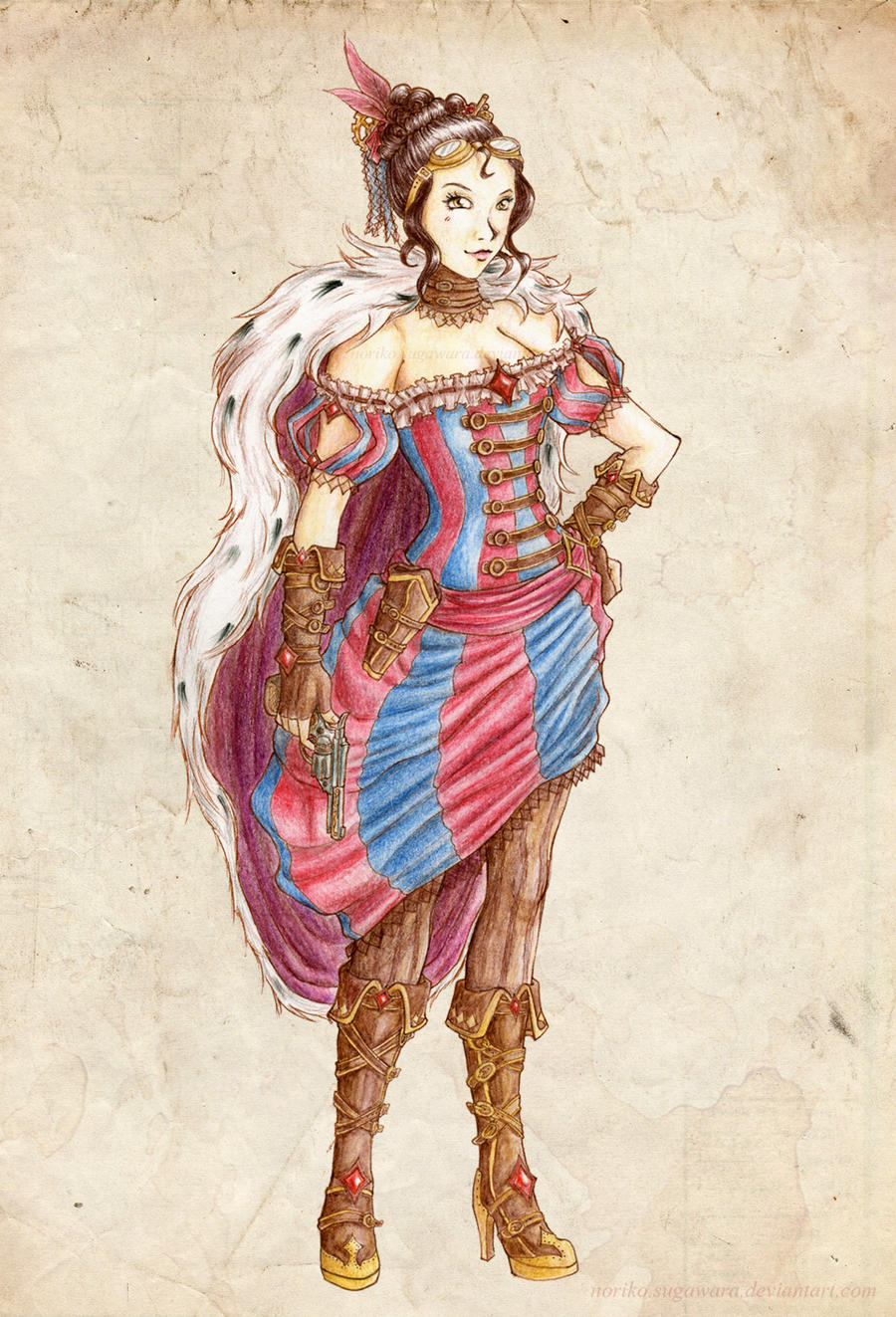 Steampunk Pirate Empress by Noriko-Sugawara