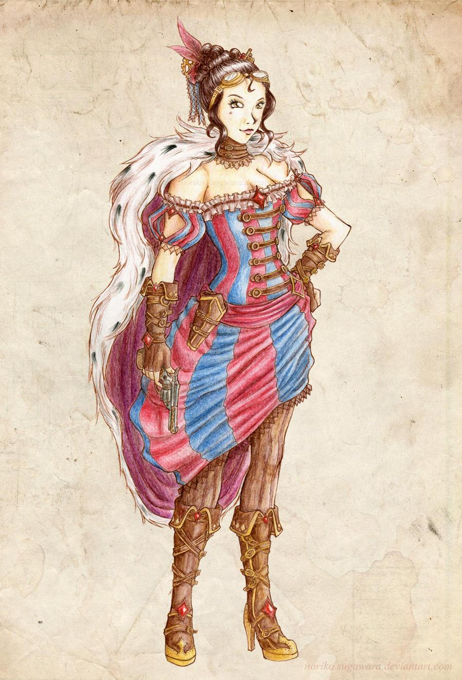 Steampunk Pirate Empress by Noriko-Sugawara