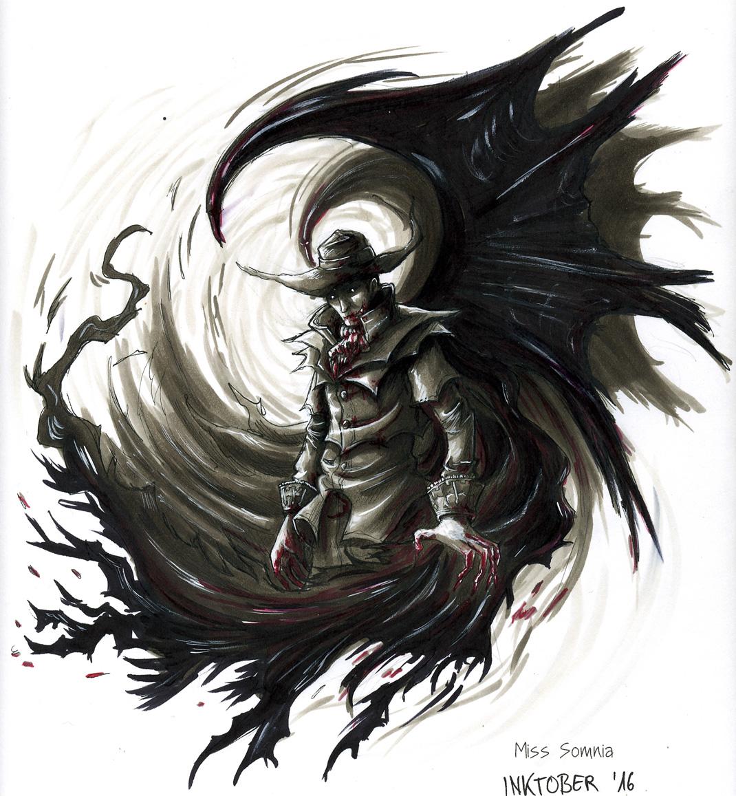 Inktober Day 3: Vampire by Noriko-Sugawara