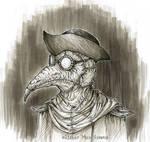 Inktober Day 9: Mask