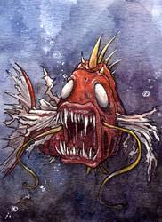 Creepy Magikarp by Noriko-Sugawara