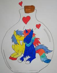 Love is in Bl...ottle!  by betaluna