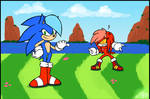 Female Sonic and Knuckles