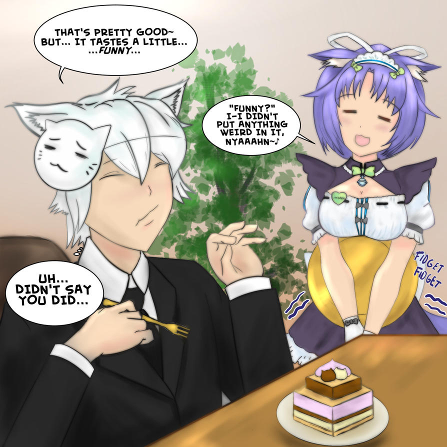 TheAnimeMan Fanart:  What's In That Cake? by Kasey-N-Moore