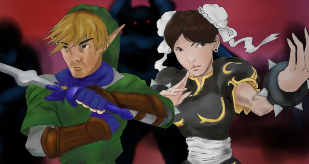 Convention Tag Team: Link and Chun-Li by Kasey-N-Moore