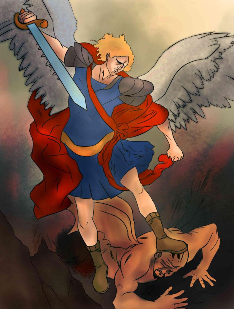 Afro Archangel by Kasey-N-Moore