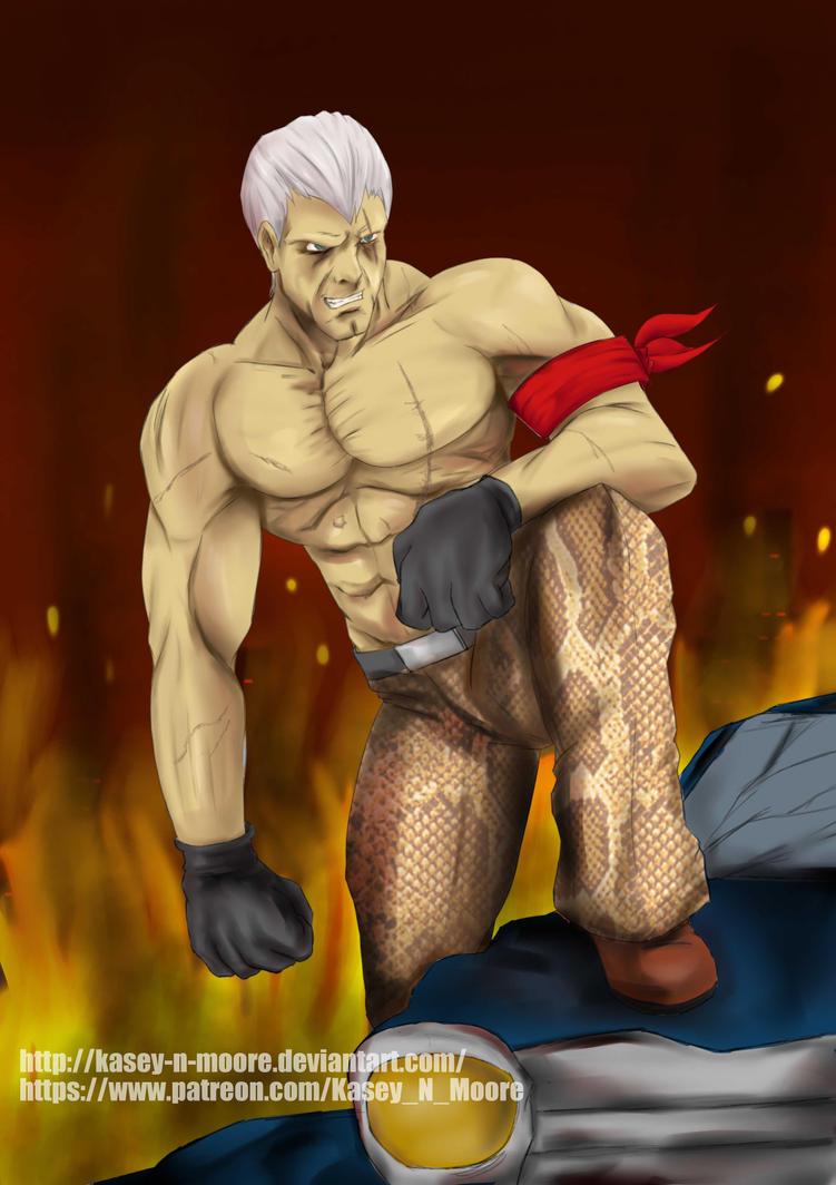 Tekken Fanart: Bryan Fury by Kasey-N-Moore