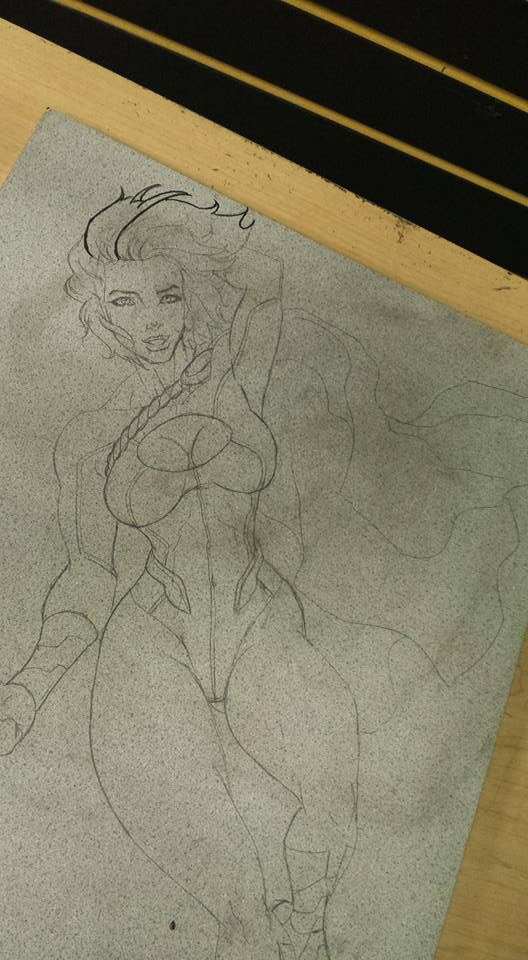 Crater City Comix Tombs WIP Power Girl pencil full by Wolfgang-Blaine