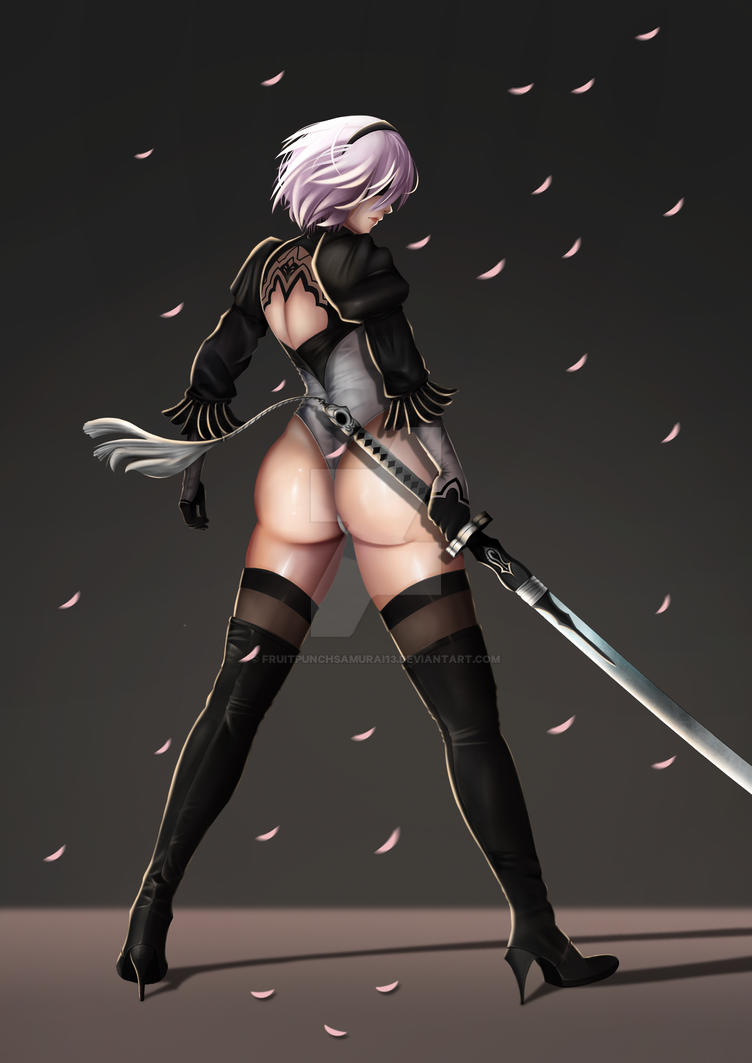 Yorha 2B Self-Destruct mode by FruitPunchSamurai13