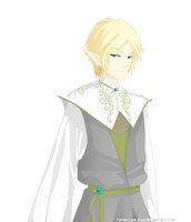Moonsttarr Commission 3: The Male Elf by RebeccaAlexa