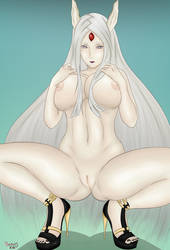 Kaguya Ootsutsuki Sexy Nude by BouncyCG