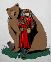 Conscript and Bear_coloured by BillieCake