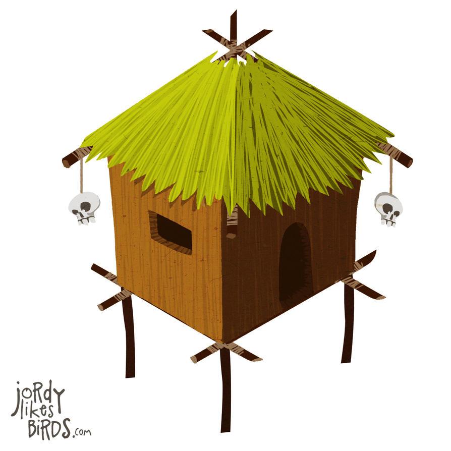 Isometric hut by milesmars