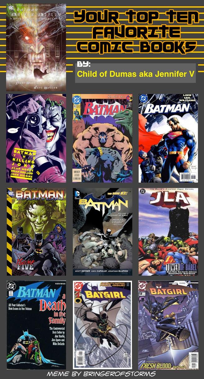 Top 10 Favorite Comic Books (BATMAN STYLE) by ChildOfDumas