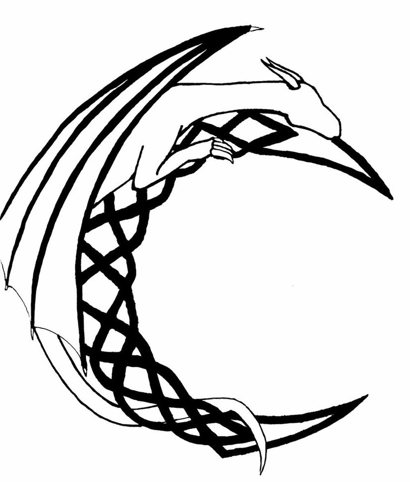 Dragon Celtic Moon by Bloody-Hound on DeviantArt