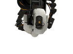 Glados with a mustache