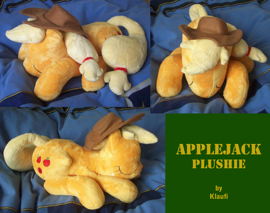Sleeping Applejack Plush by Klaufi