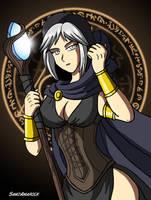 Hilda the blind sorceress by SamiAmarock