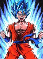 Goku SSJ Blue by SamiAmarock