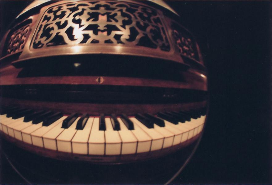 Fisheye: Piano by bluepygmypuff