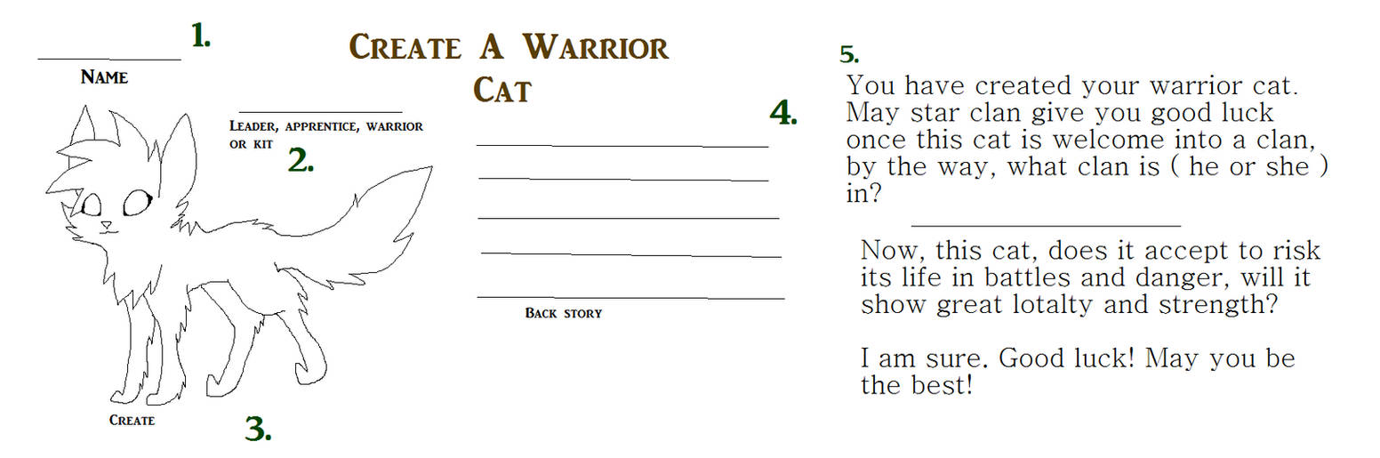 Create Your Warrior Cat by Rainbow-Wolf-Tails on DeviantArt