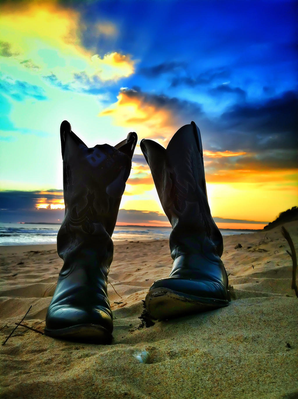 Beach Boots by littleredplanet