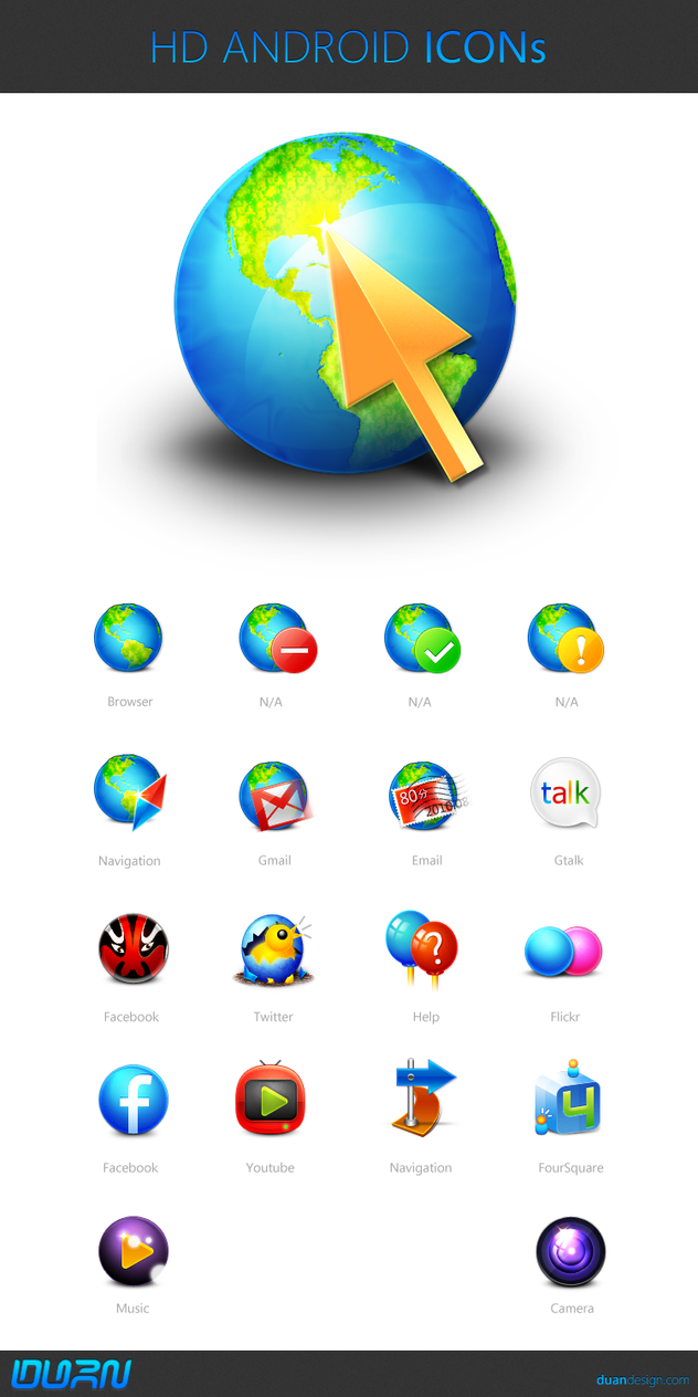 HD Android Icons by dstyler