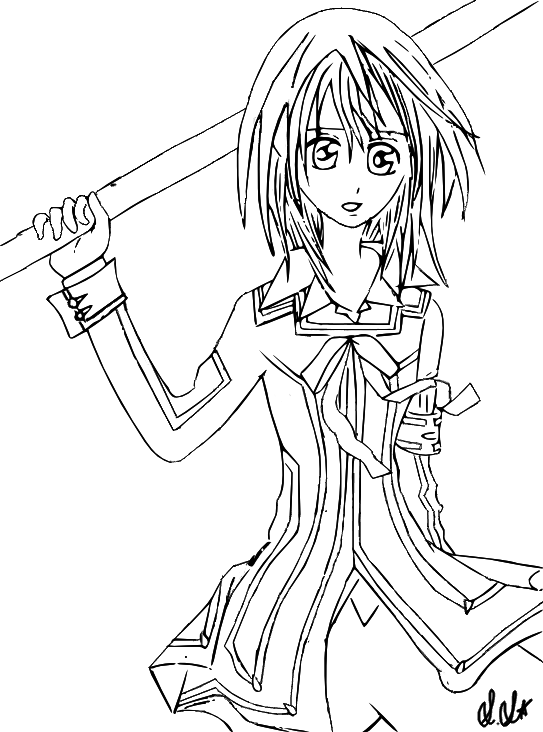 Yuuki vampire knight lineart by dreammuffin on deviantart for Vampire knight coloring pages