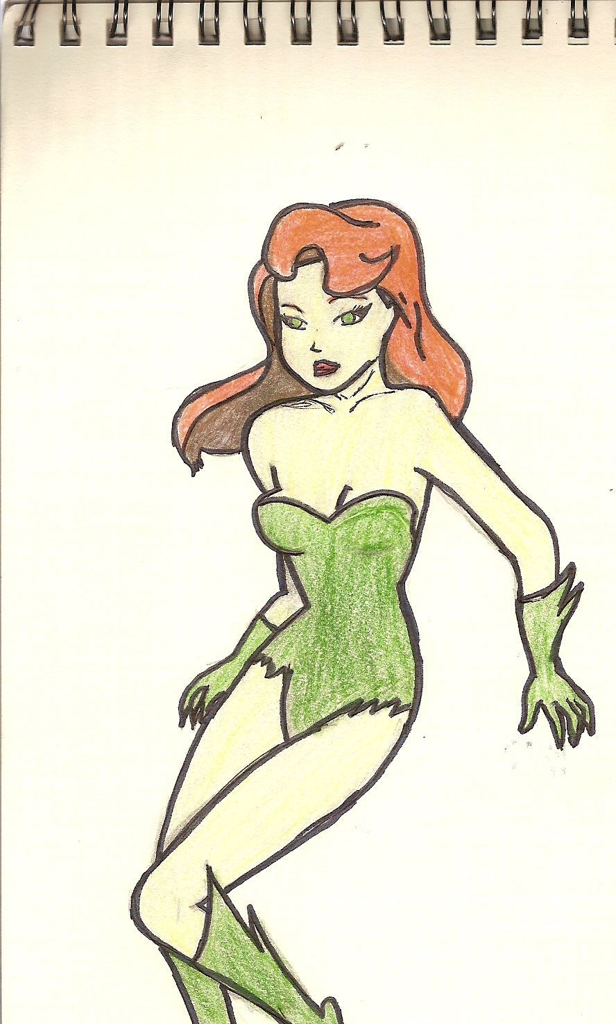 Poison Ivy Drawing by AlfredFJones88 on DeviantArt