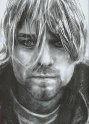 Kurt Cobain in houtskool by Tijntje