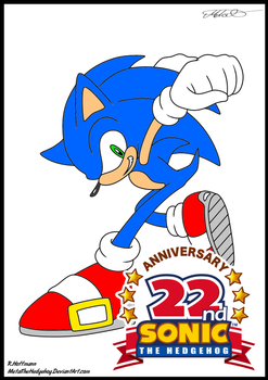 coloring page 1 sonic Coloured for 22nd Birthday